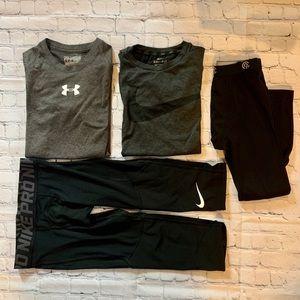 Youth sport bundle (2 tees / 2 base layer pants) S
